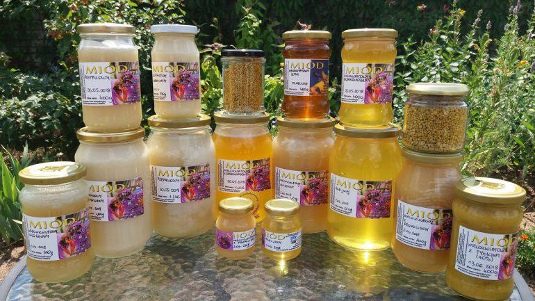 miód rzepakowy, miód akacjowy, miód wielokwiatowy wiosenny