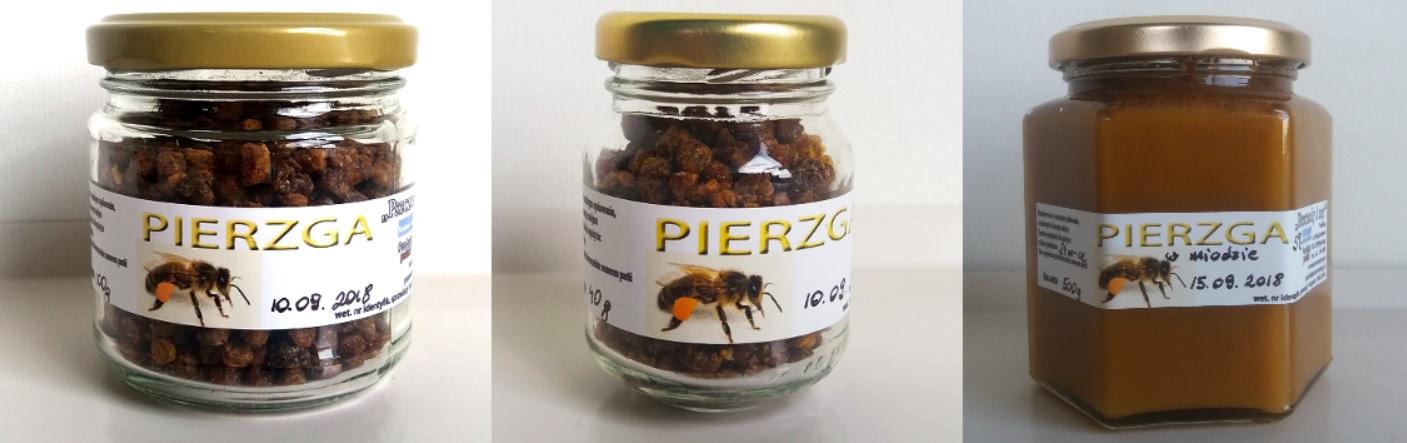 Pierzga pszczela oferowana w sklepie pasieki Pszczoły i My